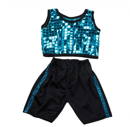 Blue Disco Jogger Outfit