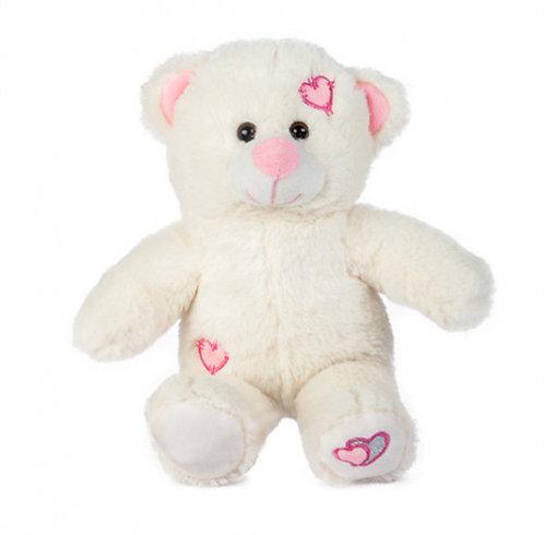 White Loveheart Bear