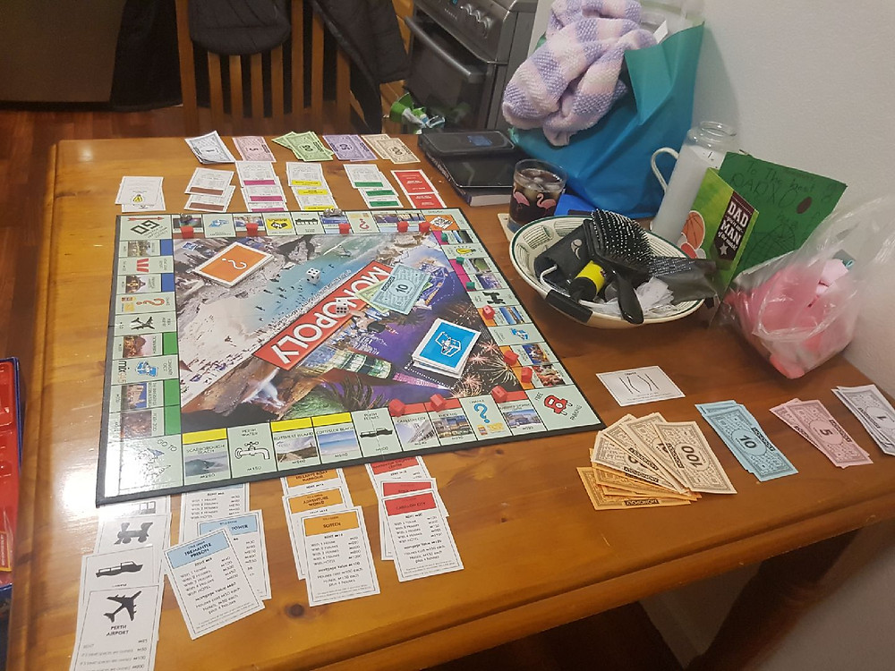 Perth monopoly at the Nix house