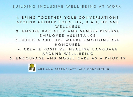 Building an Inclusive Culture of Well-being at Work