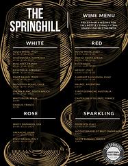 Springhill Wine Menu