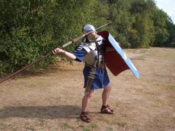Throwing Roman Pilum