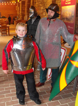 Trying medieval armour