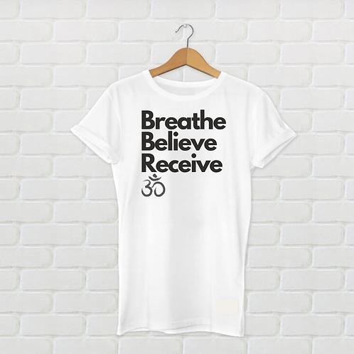 Om Women White T Shirt