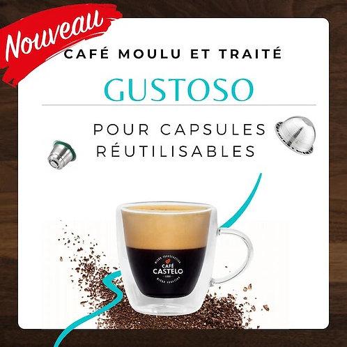 GUSTOSO - Café moulu et traité pour capsule réutilisable