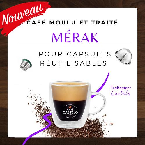 MÉRAK - Café moulu et traité pour capsule réutilisable