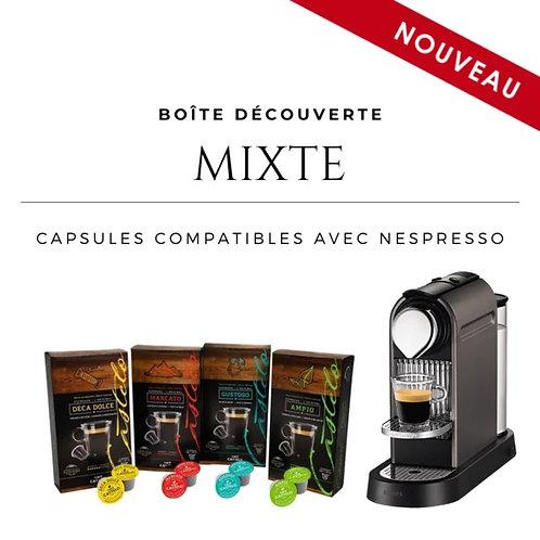 Boîte découverte mixte - Capsules compatibles avec Nespresso®