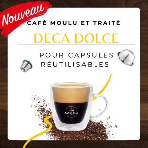 DECA DOLCE - Café moulu et traité pour capsule réutilisable