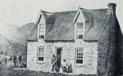 Clayton Station homestead in 1878 behind