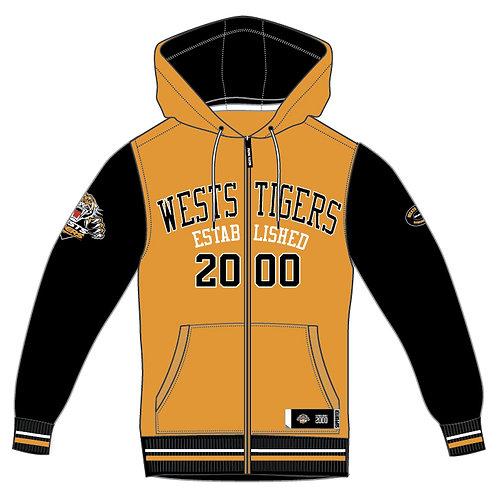 West Tigers Zip-up Hoodie Adult