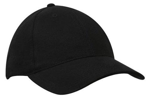 Standard 4199 curved peak black cap