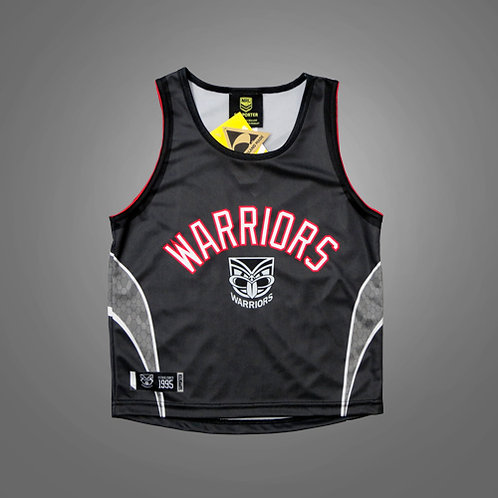 Warriors Black/Red Kids Sports Singlet