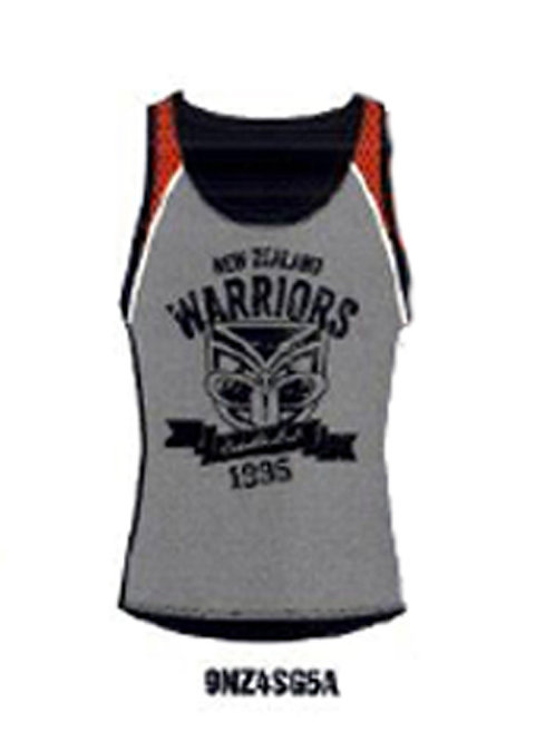Warriors Charcoal/Red Performance Singlet
