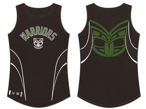 Warriors Sports Singlet Adult Black