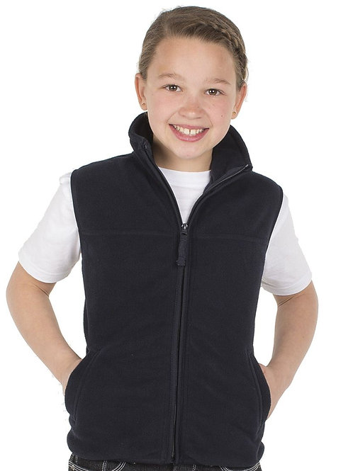 3KOV  Kids Full Zip Polar Fleece Vest