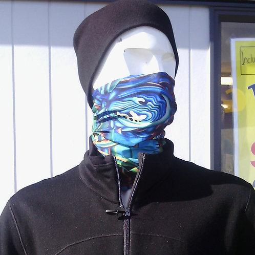 Buffe scarf/headwear - Kiwi Paua design