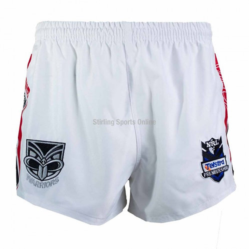 Adults Warriors White (Away) Supporters  Shorts