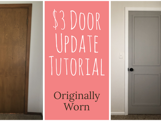 How To Update A Hollow Core Door For $3!