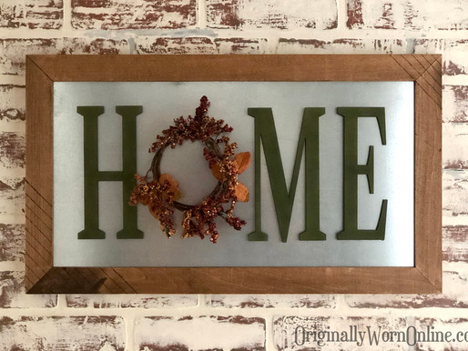 How To Create This HOME Sign