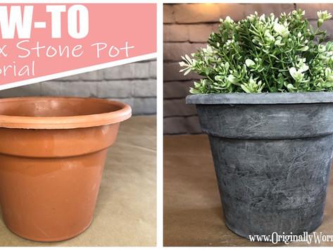 Faux Stone Pot