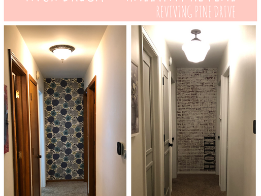 Faux Chippy Brick Wall & Hallway Reveal