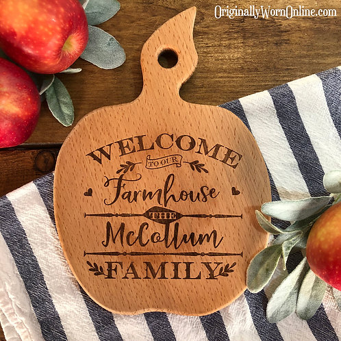 Personalized or Recipe Apple Cutting Board
