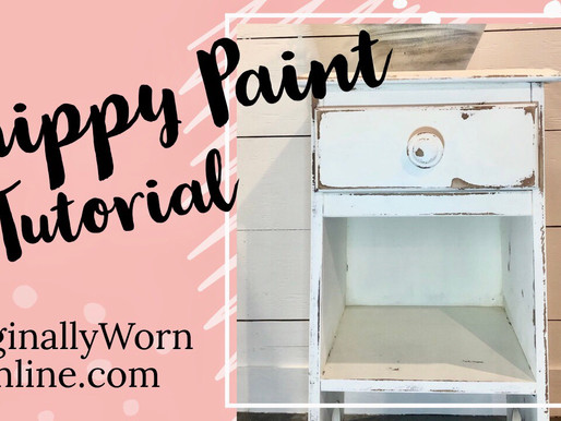 Chippy Paint Tutorial: Miss Mustard Seed Milk Paint