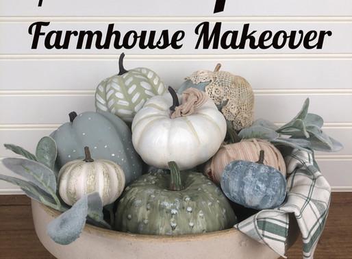 $1 Pumpkin Farmhouse Makeover