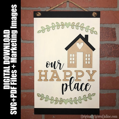SVG File: Our Happy Place
