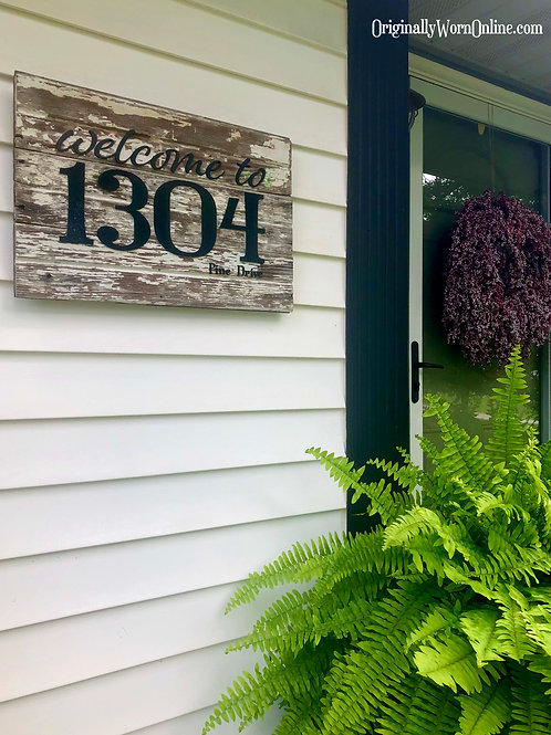 Welcome House Number Sign
