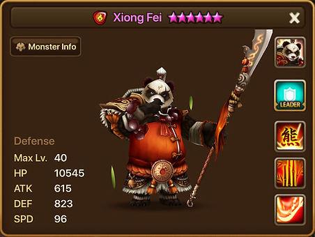 XIONG FEI Fire Panda Warrior