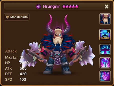 HRUNGNIR Dark Barbaric King