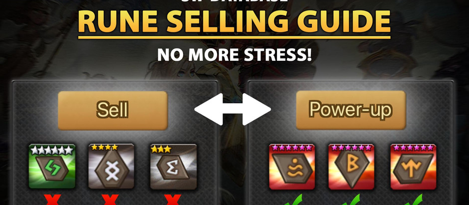 Summoners War Best Rune Selling Guide! (Updated for 2020!)