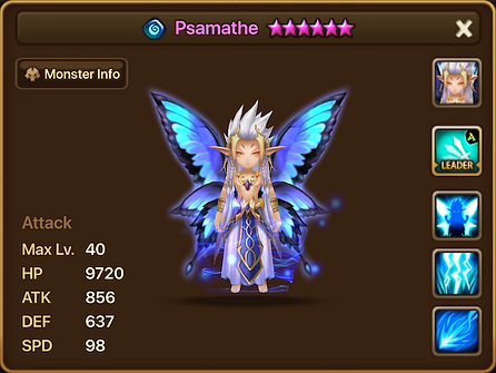 PSAMATHE Water Fairy King