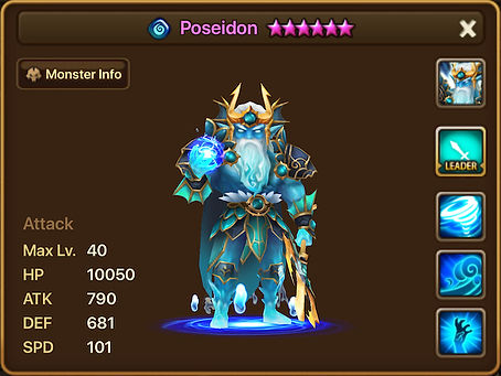 POSEIDON Water Sea Emperor