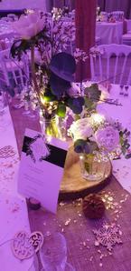 Décoration de table au Clos de l'Orangerie