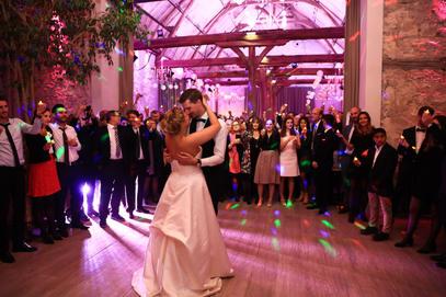Première dans d'un mariage heureux au Clos de l'Orangerie