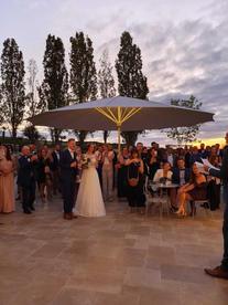 Mariage sur la grande terrasse du Clos