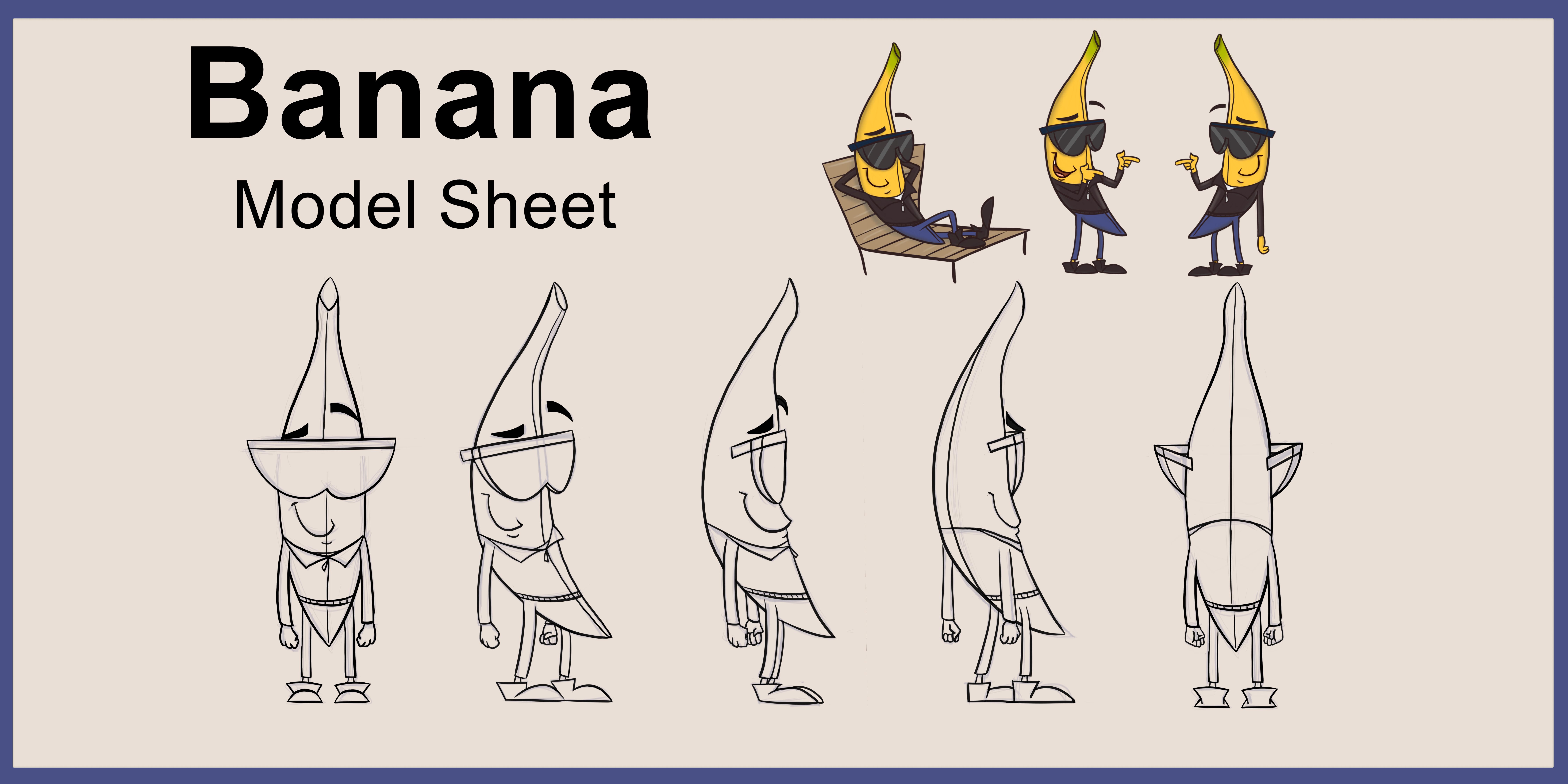 Banana Model Sheet