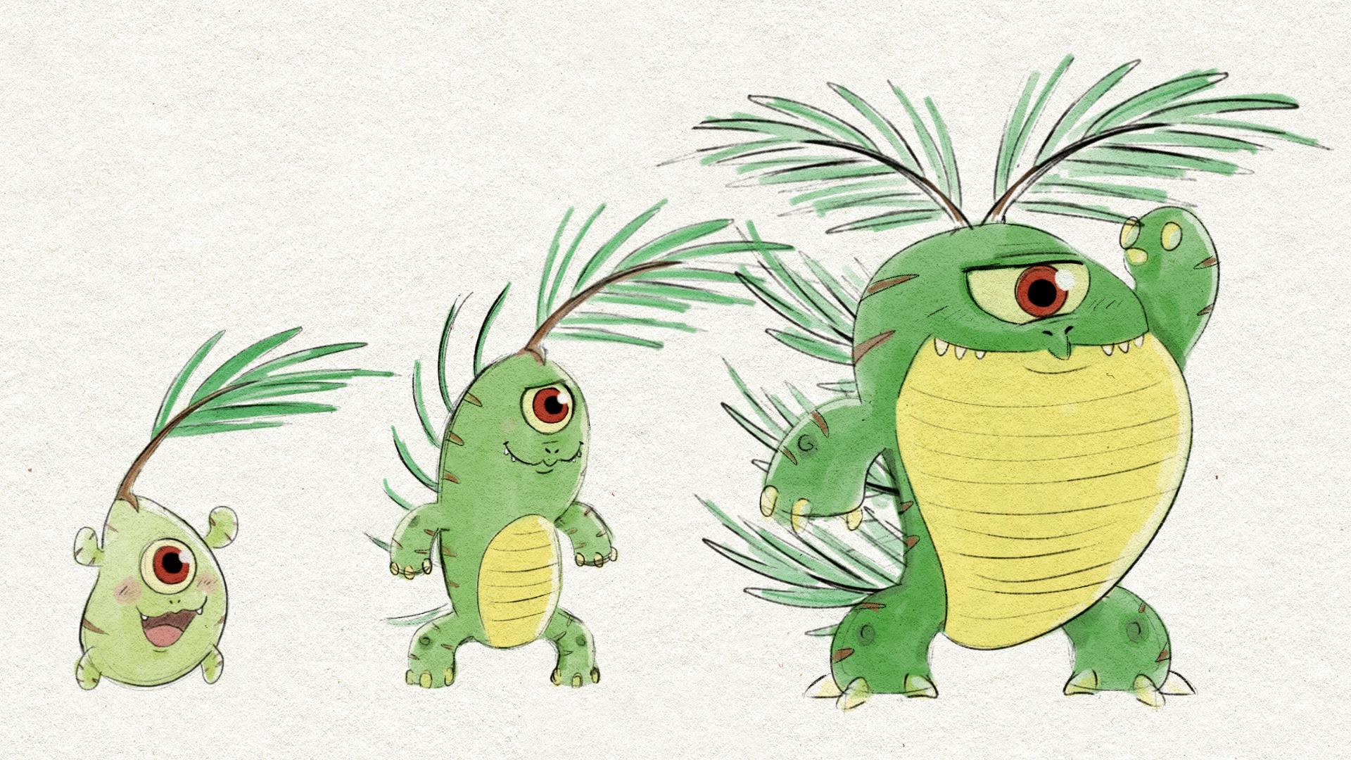 Plant Monster Evolution Designs