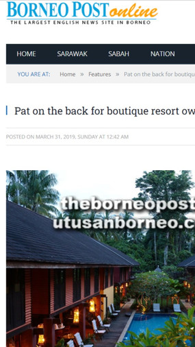 Pat on the back for boutique resort owners