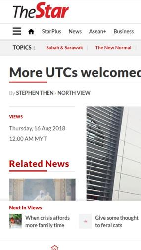 More UTCs welcomed