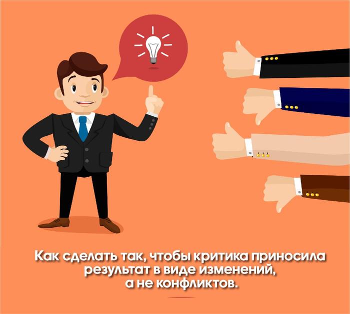 Как сделать так, чтобы критика приносила результат в виде изменений, а не конфликтов.