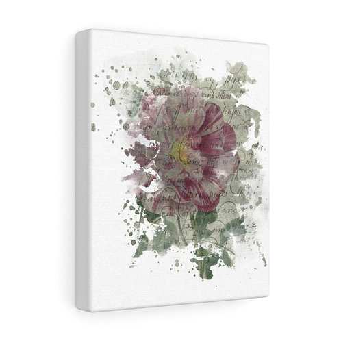 French Rose Collage Canvas Gallery Wrap