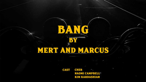 """BANG"" by Mert & Marcus / CR Fashion Book"