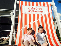 Chilling in the big deckchair