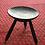 Thumbnail: Tabouret en bois avec assise peinte à la main