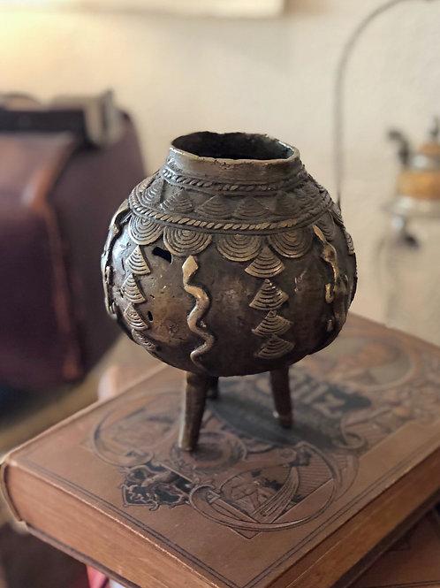 Coupe en bronze Ashanti Ghana pour boire le vin de palme