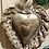 """Thumbnail: Coeur en argile, fait main - Gris """"Ex-voto"""""""