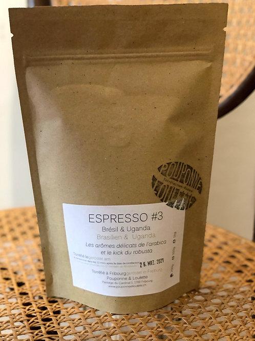 Café Espresso #3  Brésil & Uganda (moulu).250g